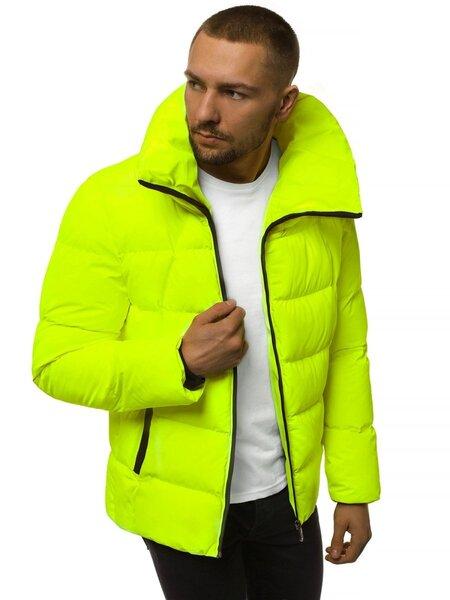"""Stilinga vyriška žieminė geltona-neoninė striukė """"Kamor"""" atsiliepimas"""