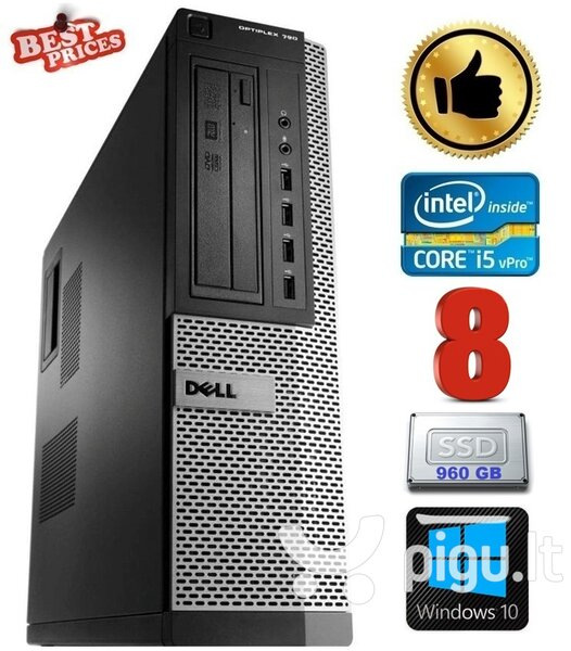 DELL 790 DT i5-2500 8GB 960SSD DVDRW WIN10