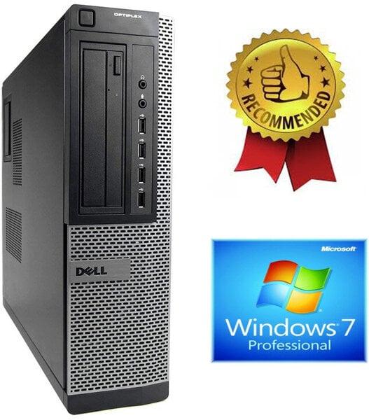 Dell Optiplex 7010 Desktop i5-2500s 4GB 120GB SSD + 1000GB HDD Windows 7 Professional kaina ir informacija | Stacionarūs kompiuteriai | pigu.lt