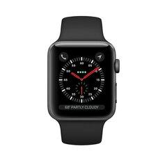Apple Watch S3 + Cellular, 42 mm, Black/Space Gray Aluminum kaina ir informacija | Išmanieji laikrodžiai (smartwatch) | pigu.lt