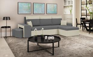 Мягкий угол Bellezza Dakota, белый / темно-серый цена и информация | Угловые диваны | pigu.lt