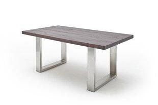 Valgomojo stalas MC Akcent Castello, 260x100 cm, tamsiai rudas/sidabrinis kaina ir informacija | Virtuvės ir valgomojo stalai, staliukai | pigu.lt