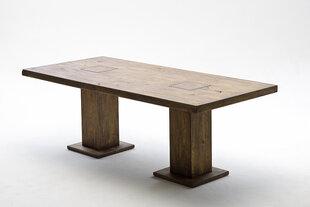 Valgomojo stalas MC Akcent Manchester, 180x90 cm, rudas kaina ir informacija | Virtuvės ir valgomojo stalai, staliukai | pigu.lt