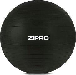 Gimnastikos kamuolys Zipro su pompa, juodas kaina ir informacija | Gimnastikos kamuoliai | pigu.lt