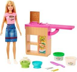 Lėlės Barbie rinkinys Makaronų baras, GHK43 kaina ir informacija | Žaislai mergaitėms | pigu.lt