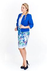 Plus dydžio švarkas moterims, mėlynas kaina ir informacija | Švarkeliai | pigu.lt