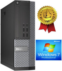 Dell 7020 SFF i5-4670 4GB 480GB SSD 2TB Windows 7 Professional kaina ir informacija | Dell 7020 SFF i5-4670 4GB 480GB SSD 2TB Windows 7 Professional | pigu.lt