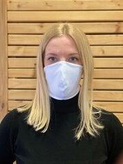 Dvisluoksnė medvilninė veido kaukė, balta 5vnt kaina ir informacija | Pirmoji pagalba | pigu.lt