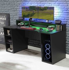 Kompiuterinių žaidimų stalas Forte Tezaur B211B3, juodas цена и информация | Kompiuterinių žaidimų stalas Forte Tezaur B211B3, juodas | pigu.lt