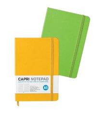 Рабочая книга с резинкой A5 Capri, в линейку цена и информация | Календари, ежедневники | pigu.lt