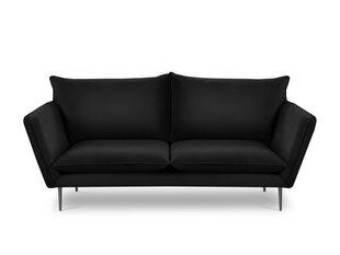 Trivietė aksominė sofa Mazzini Sofas Acacia, juoda kaina ir informacija | Trivietė aksominė sofa Mazzini Sofas Acacia, juoda | pigu.lt