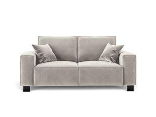 Dvivietė aksominė sofa Kooko Home Dolce, smėlio spalvos kaina ir informacija | Dvivietė aksominė sofa Kooko Home Dolce, smėlio spalvos | pigu.lt