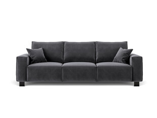 Trivietė aksominė sofa Kooko Home Dolce, tamsiai pilka kaina ir informacija | Trivietė aksominė sofa Kooko Home Dolce, tamsiai pilka | pigu.lt