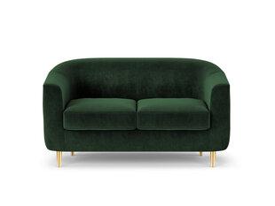 Dvivietė aksominė sofa Kooko Home Tact, tamsiai žalia kaina ir informacija | Dvivietė aksominė sofa Kooko Home Tact, tamsiai žalia | pigu.lt