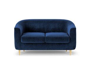 Dvivietė aksominė sofa Kooko Home Tact, tamsiai mėlyna kaina ir informacija | Dvivietė aksominė sofa Kooko Home Tact, tamsiai mėlyna | pigu.lt