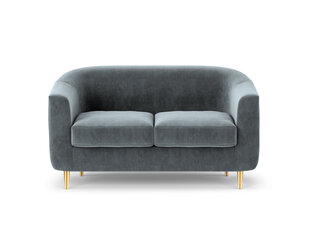Dvivietė aksominė sofa Kooko Home Tact, pilka kaina ir informacija | Dvivietė aksominė sofa Kooko Home Tact, pilka | pigu.lt