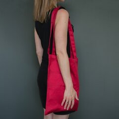 Medvilninis tefloninis pirkinių krepšys RainBow®, raudonas kaina ir informacija | Moteriškos rankinės | pigu.lt