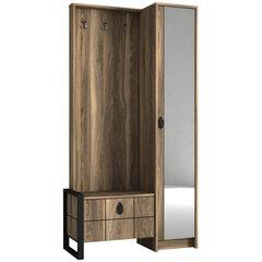 Prieškambario baldų komplektas Kalune Design Lost, rudas kaina ir informacija | Prieškambario baldų komplektas Kalune Design Lost, rudas | pigu.lt