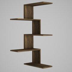 Kampinė pakabinama lentyna Kalune Design Caniko, ruda kaina ir informacija | Lentynos | pigu.lt
