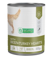 Nature's Protection - Beef and Turkey Heartskonservai šunims, 800 g kaina ir informacija | Nature's Protection - Beef and Turkey Heartskonservai šunims, 800 g | pigu.lt