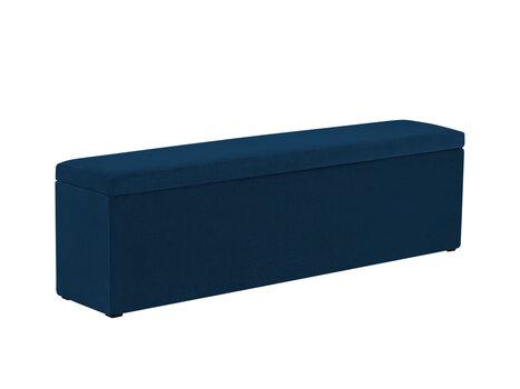 Pufas su daiktadėže Milo Casa Lara 140, mėlynas kaina ir informacija | Sėdmaišiai ir pufai | pigu.lt