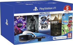 Sony PlayStation VR New Mega Pack su PS4 kamera ir 5 žaidimais цена и информация | Sony PlayStation VR New Mega Pack su PS4 kamera ir 5 žaidimais | pigu.lt