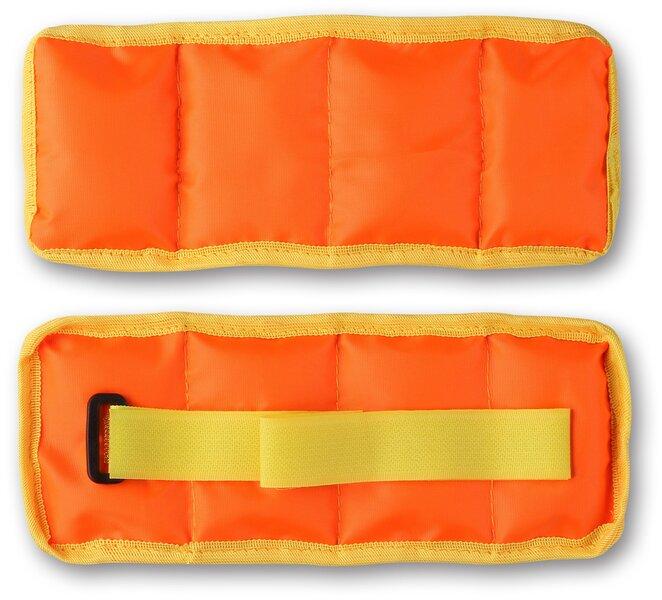 """Svoriai ant riešų ir kojų """"Klassika"""" SM-148, 2 x 0,5 kg, oranžiniai"""