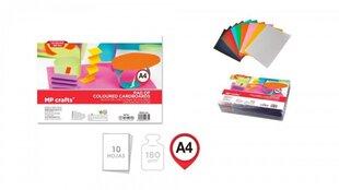 Spalvotas dvipusis kartonas, 180gr, A4, 10 lapų цена и информация | Тетради и бумажные товары | pigu.lt