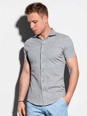 Vyriški marškiniai trumpomis rankovėmis Ombre K541 pilkos spalvos kaina ir informacija | Vyriški marškiniai trumpomis rankovėmis Ombre K541 pilkos spalvos | pigu.lt