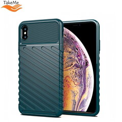 TakeMe Thunder TPU super thin back cover case for Apple iPhone XS Max Dark green kaina ir informacija | Telefono dėklai | pigu.lt