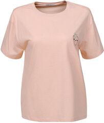 Marškinėliai Glo Story, kreminiai kaina ir informacija | Marškinėliai moterims | pigu.lt