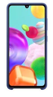 Samsung original silicone dėklas telefonui skirtas Galaxy A41, blue kaina
