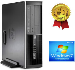 HP Compaq Elite 8100 Intel® Core™ i5-650 8GB 512GB SSD GT710 2gb DVD Windows 7 Professional kaina ir informacija | Stacionarūs kompiuteriai | pigu.lt