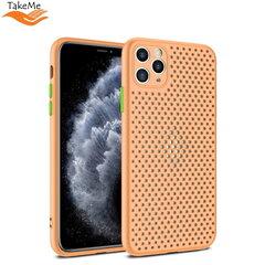 "TakeMe ""Breathing dotted"" TPU back cover case for Samsung Galaxy A51 (A515F) Peach kaina ir informacija | Telefono dėklai | pigu.lt"