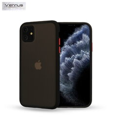 Vennus Color button series TPU back cover case for Xiaomi Redmi 8 Black kaina ir informacija | Telefono dėklai | pigu.lt