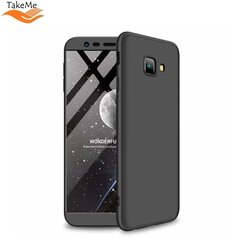TakeMe Ultra slim 3 parts 360 Protection Back Full cover case for Samsung Galaxy J4+ 2018 (J415) Black kaina ir informacija | Telefono dėklai | pigu.lt