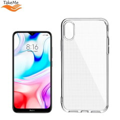 "TakeMe ""Clear"" series Transparent 2mm thin back cover case for Xiaomi Redmi 8 kaina ir informacija 