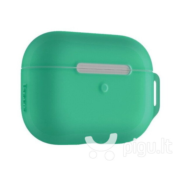 Dėkliukas Baseus Lets go Silicone-gel Protective case for Apple Airpods Pro (MWP22ZM/A), Green atsiliepimas