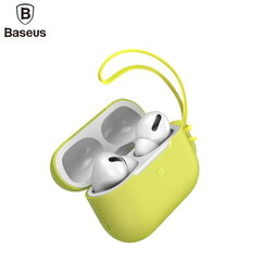 Dėkliukas Baseus Lets go Silicone-gel Protective case for Apple Airpods Pro (MWP22ZM/A), Yellow kaina ir informacija | Dėkliukas Baseus Lets go Silicone-gel Protective case for Apple Airpods Pro (MWP22ZM/A), Yellow | pigu.lt