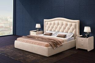 Miegamojo lova Venecija su patalynės dėže, 140x200 cm, balta kaina ir informacija | Lovos | pigu.lt