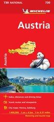 Kelių žemėlapis, Michelin, Austrija kaina ir informacija | Kelių žemėlapis, Michelin, Austrija | pigu.lt