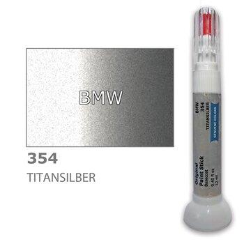 Карандаш-корректор для устранения царапин BMW 354 - TITANSILBER 12 ml цена и информация | Автомобильная краска | pigu.lt