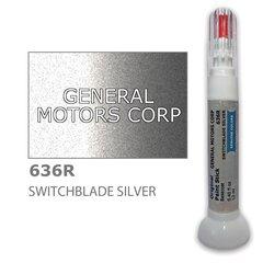 Карандаш-корректор для устранения царапин GENERAL MOTORS CORP 636R - SWITCHBLADE SILVER 12 ml цена и информация | Автомобильная краска | pigu.lt