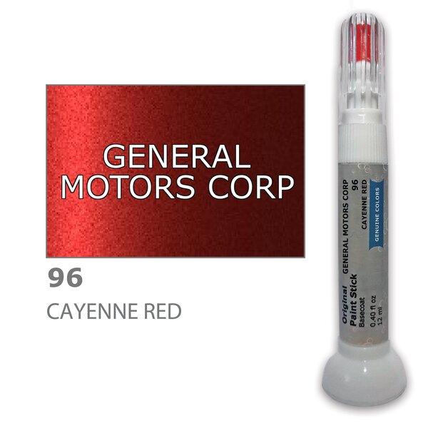 Dažų korektorius įbrėžimų taisymui GENERAL MOTORS CORP 96 - CAYENNE RED 12 ml kaina ir informacija | Automobiliniai dažai | pigu.lt