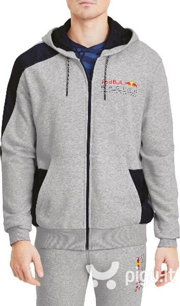 Džemperis vyrams Puma Red Bull Racing Hoodie 596213-02, pilkas
