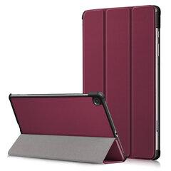 Dėklas Smart Leather Huawei MediaPad T3 10.0, tamsiai raudonas kaina ir informacija | Telefono dėklai | pigu.lt