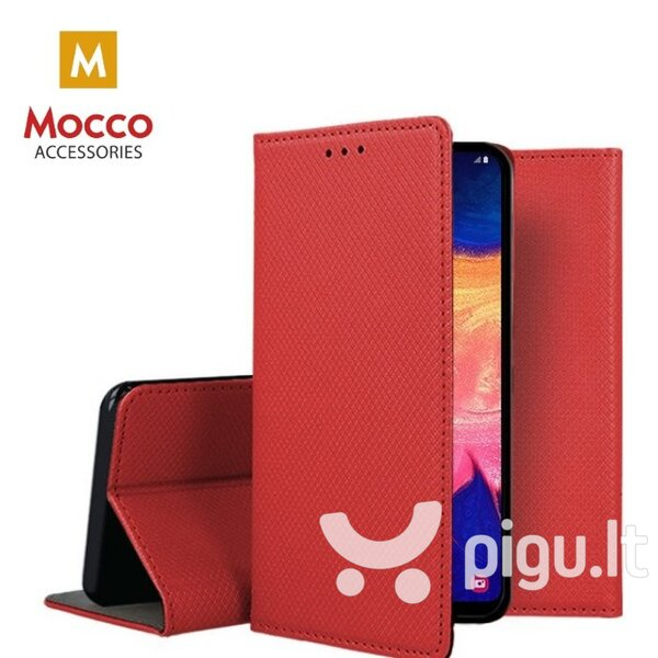 Mocco Smart Magnet Book Case For Huawei P40 Lite Red