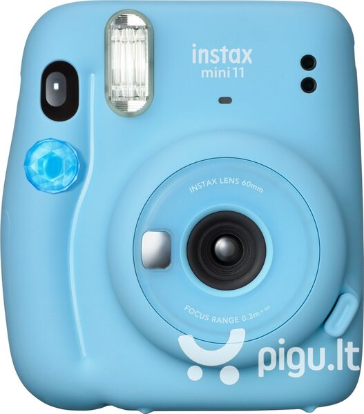 Fujifilm Instax Mini 11 (Sky Blue) + FUJIFILM Instax Mini Film (Glossy) (Color) 10