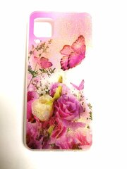 Silikoninis dėklas su dviem gėlėmis ir drugeliais, skirtas Huawei P40 kaina ir informacija | Telefono dėklai | pigu.lt