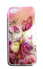 Silikoninis dėklas su gėlėmis ir drugeliais, skirtas Apple Iphone 7/8 kaina ir informacija | Telefono dėklai | pigu.lt